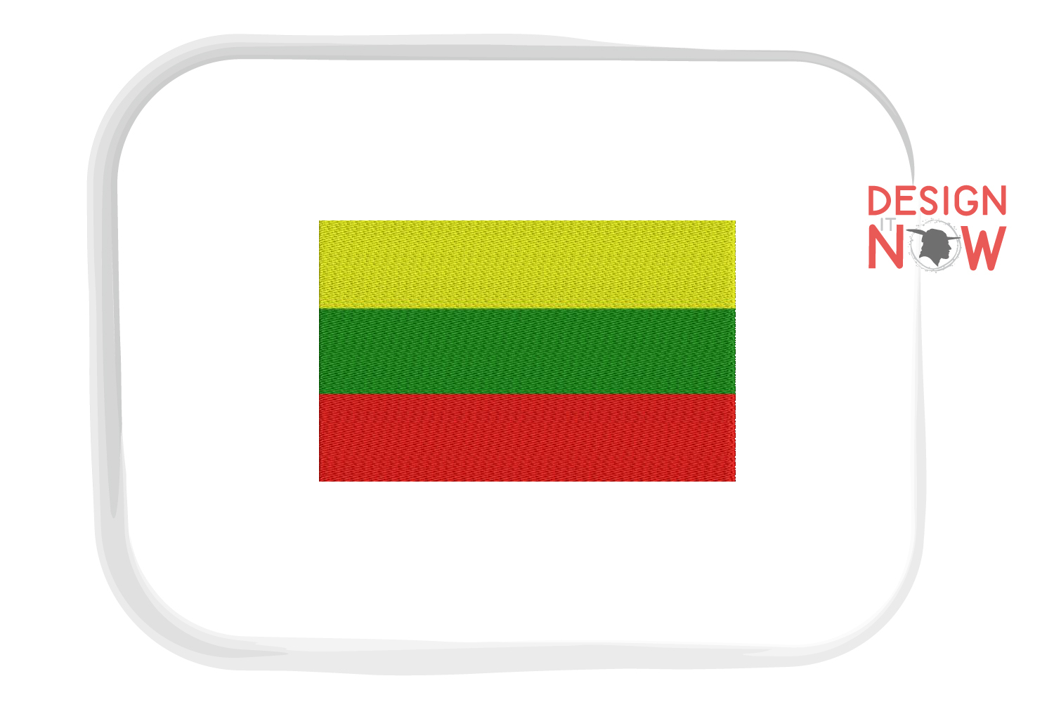Flag Of Lithuania Embroidery Design, Map Embroidery example image 1