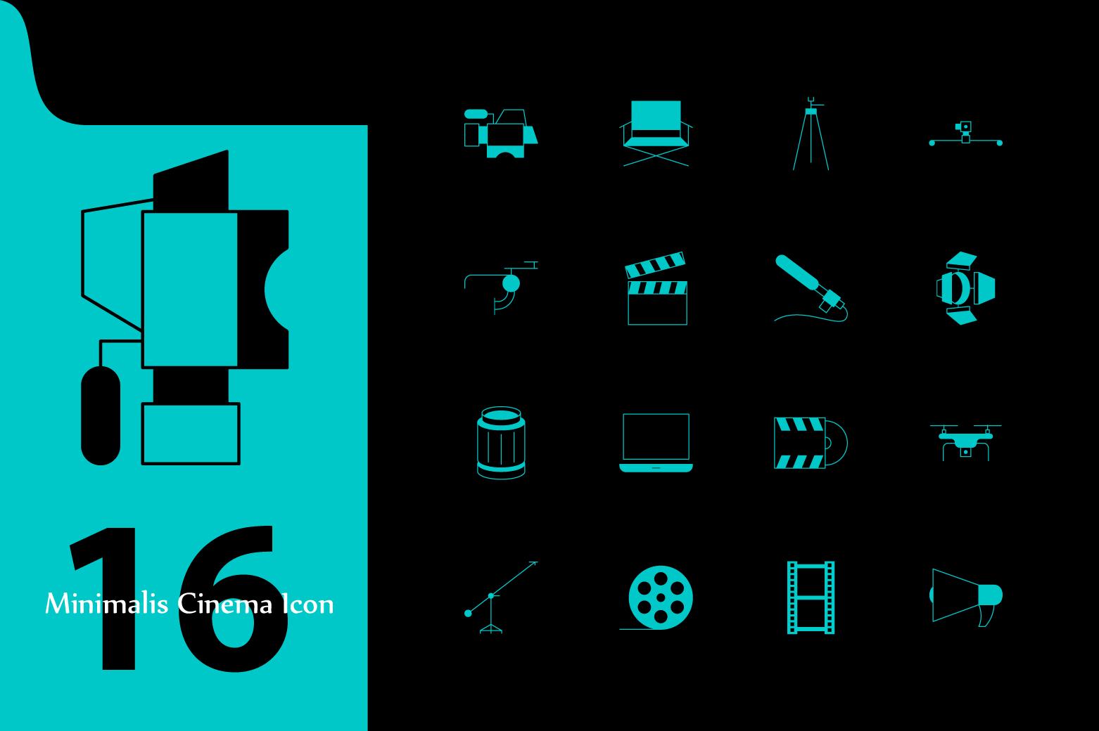 Cinema Icon Set example image 1