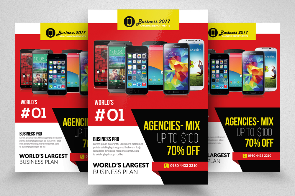 10 Corporate Psd Flyer Templates Bundle example image 2