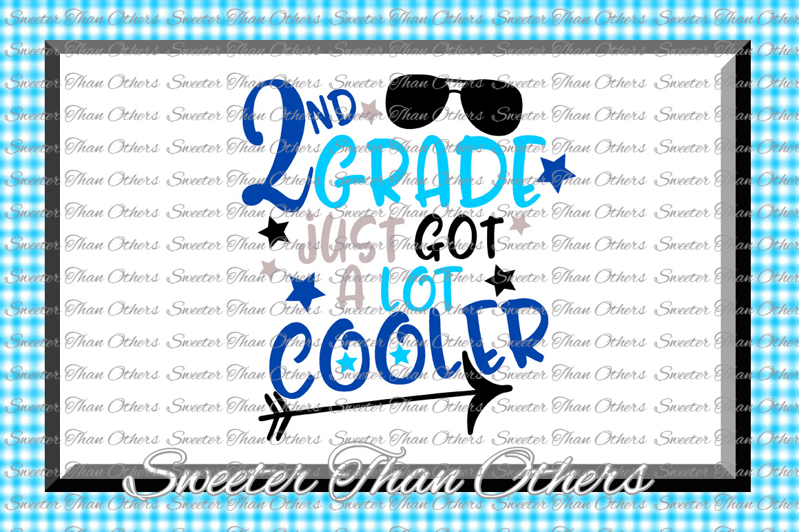 Second Grade Cooler SVG 2nd Grade cut file Last Day example image 1