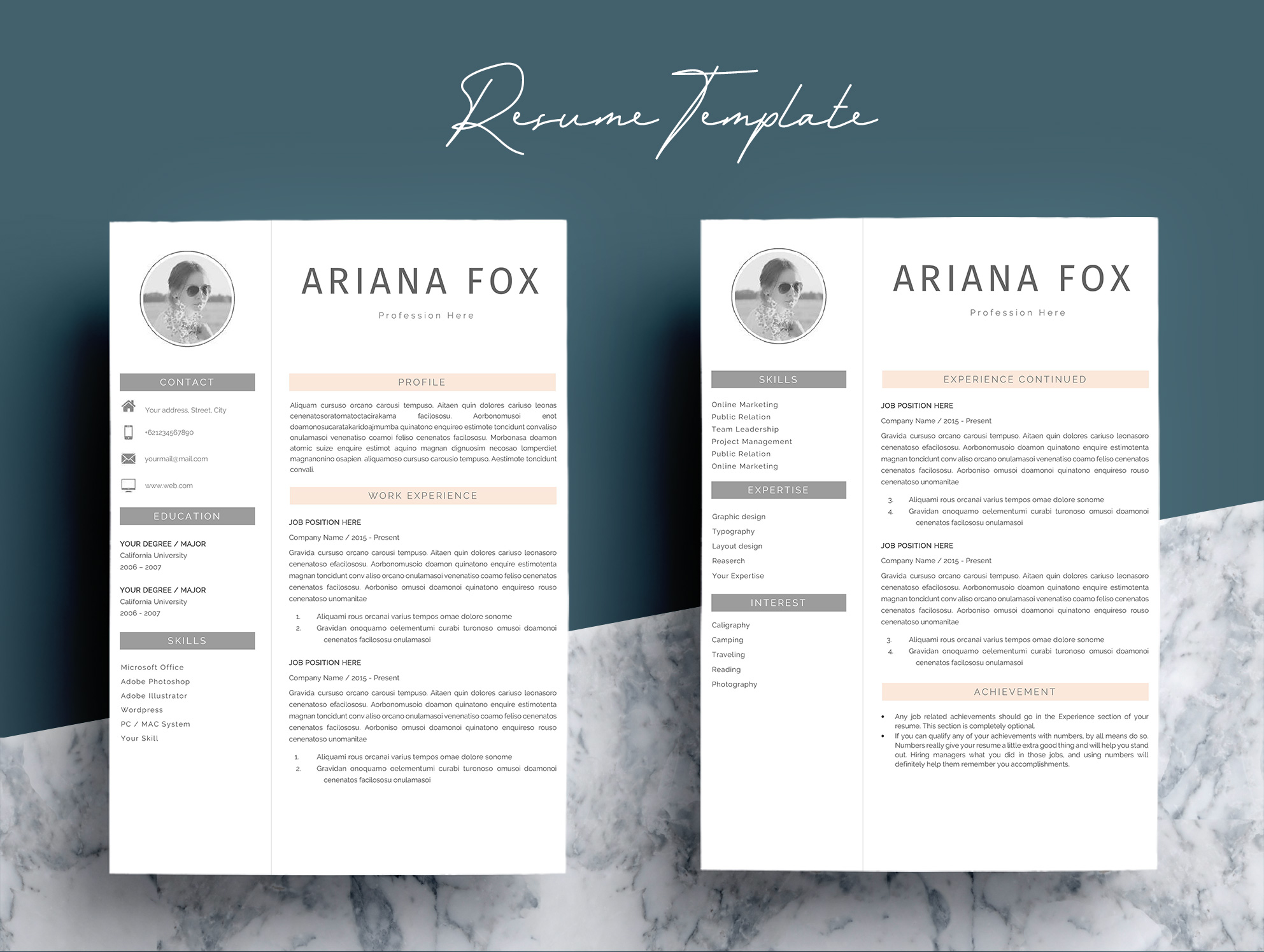 Creative Chic Resume Template Design example image 4
