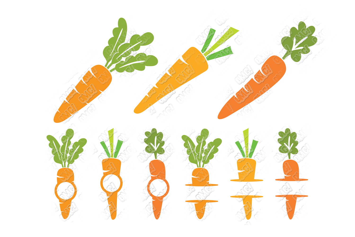 Carrot SVG Easter Monogram Quote in SVG, DXF, PNG, EPS, JPEG example image 2