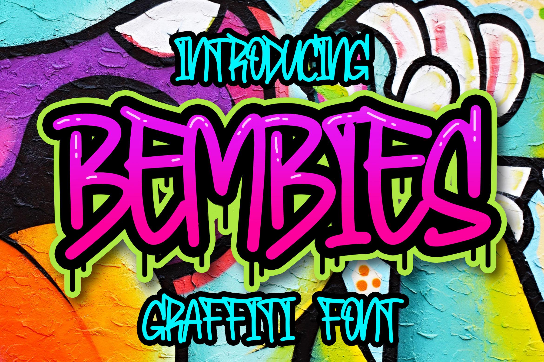 Bembies - Graffiti Font example image 1