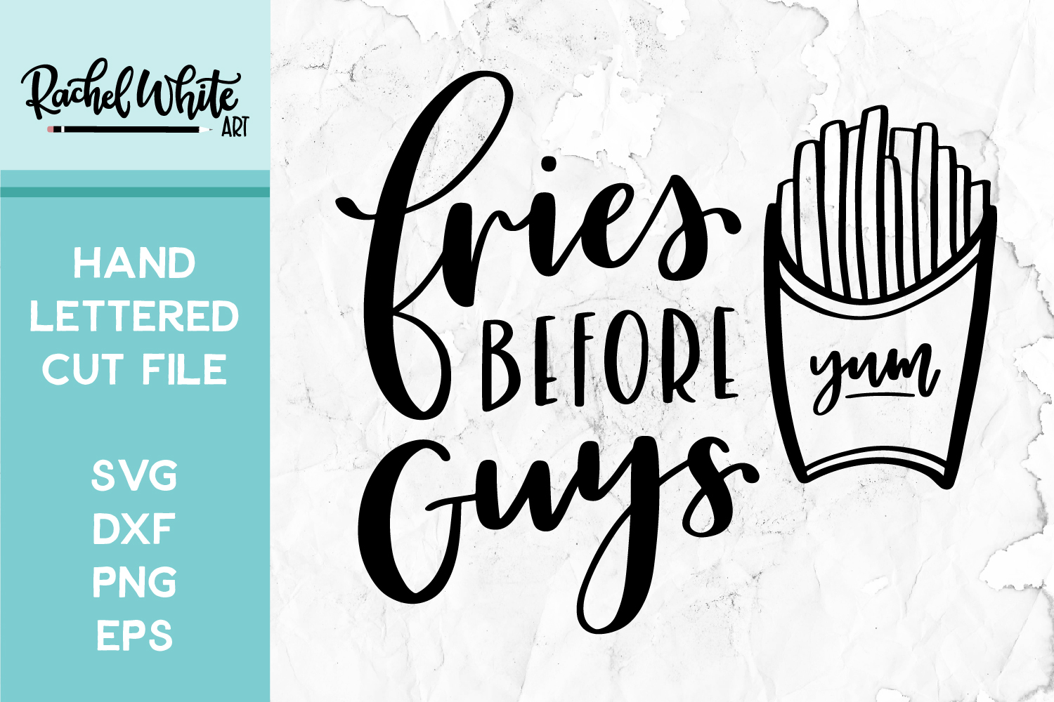 Cut File, Fries Before Guys SVG example image 1