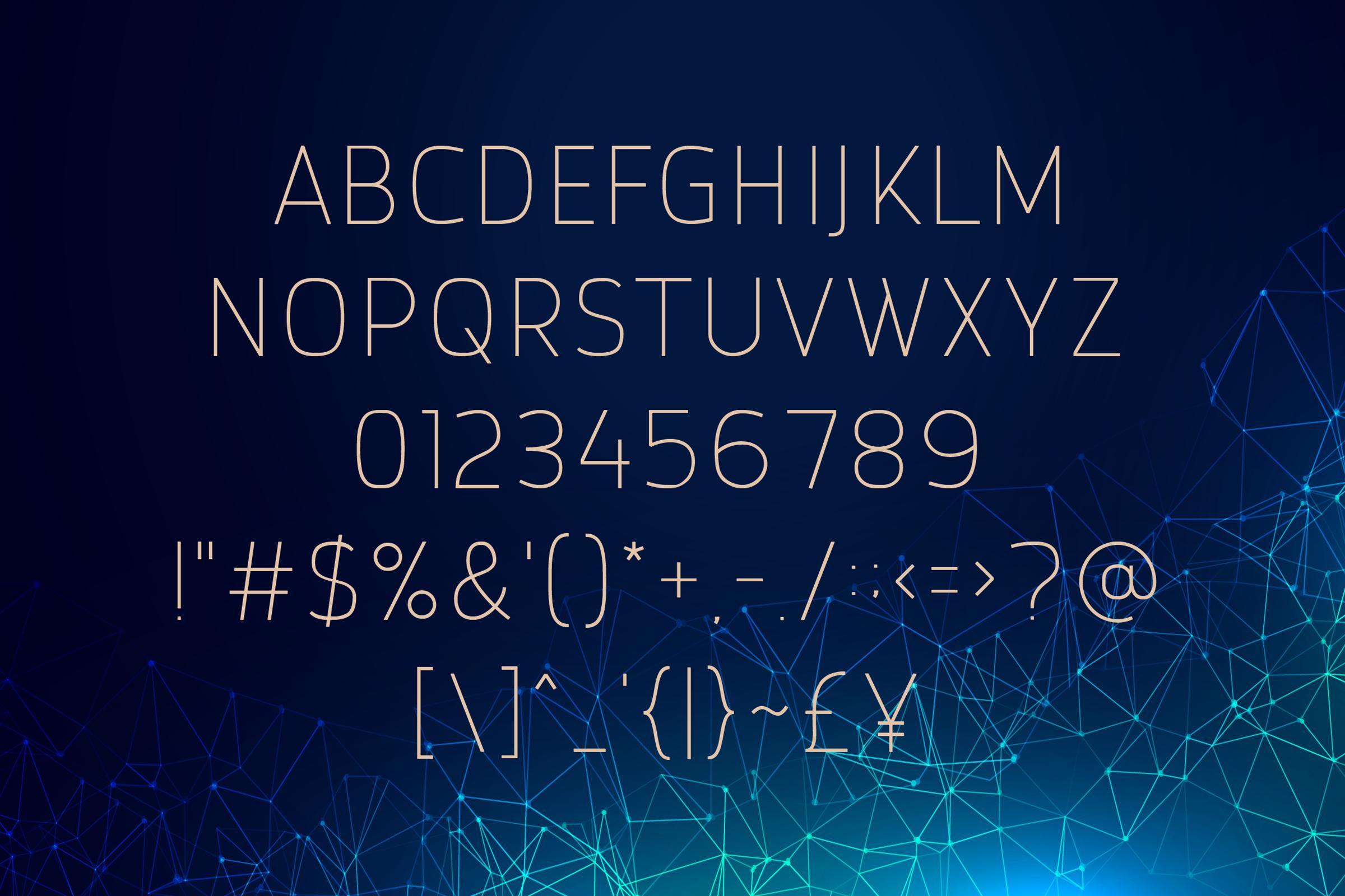 Browncode Thin Versionl Elegant font sans serif example image 2