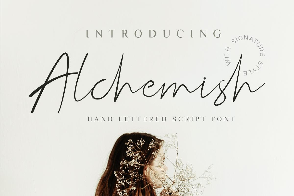 Alchemish Signature Script Font example image 1