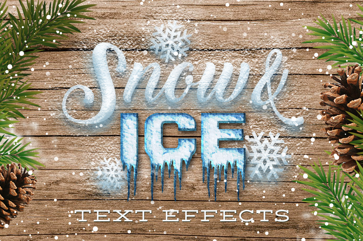 Snow & Ice Text Effects example image 1