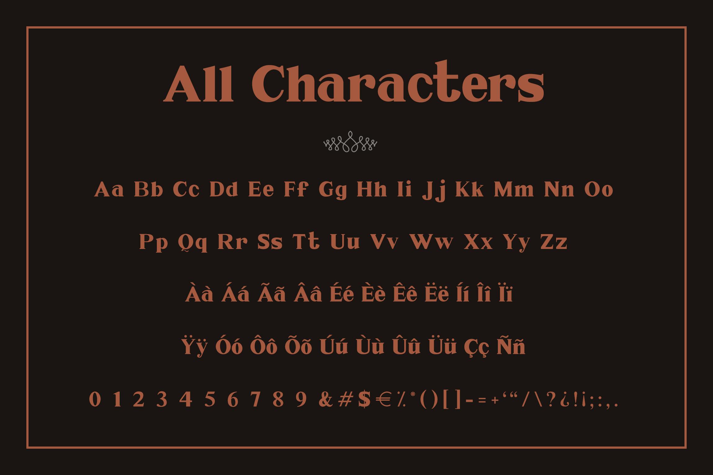 Millenia - Serif Font example image 7