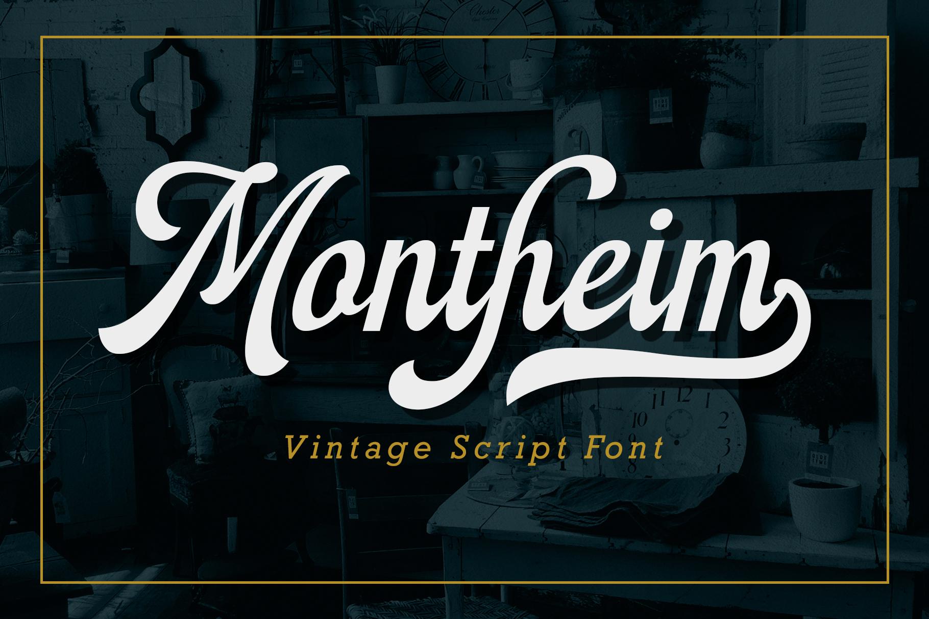 Montheim Script example image 1