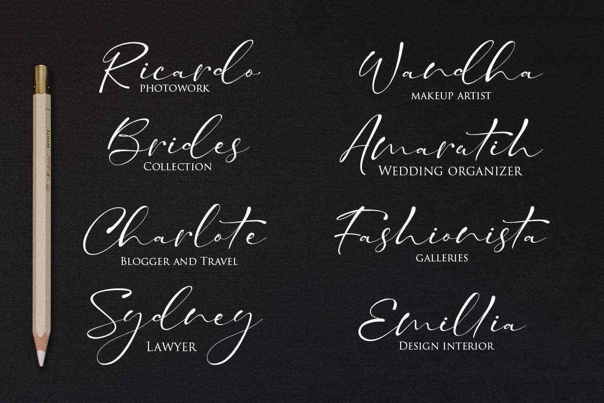 Taman Signature   Stylish Modern Script example image 9