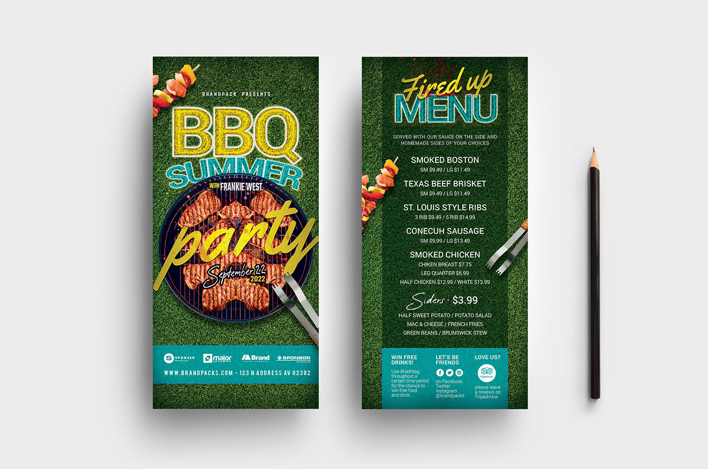 BBQ Cookout Flyer Template example image 5