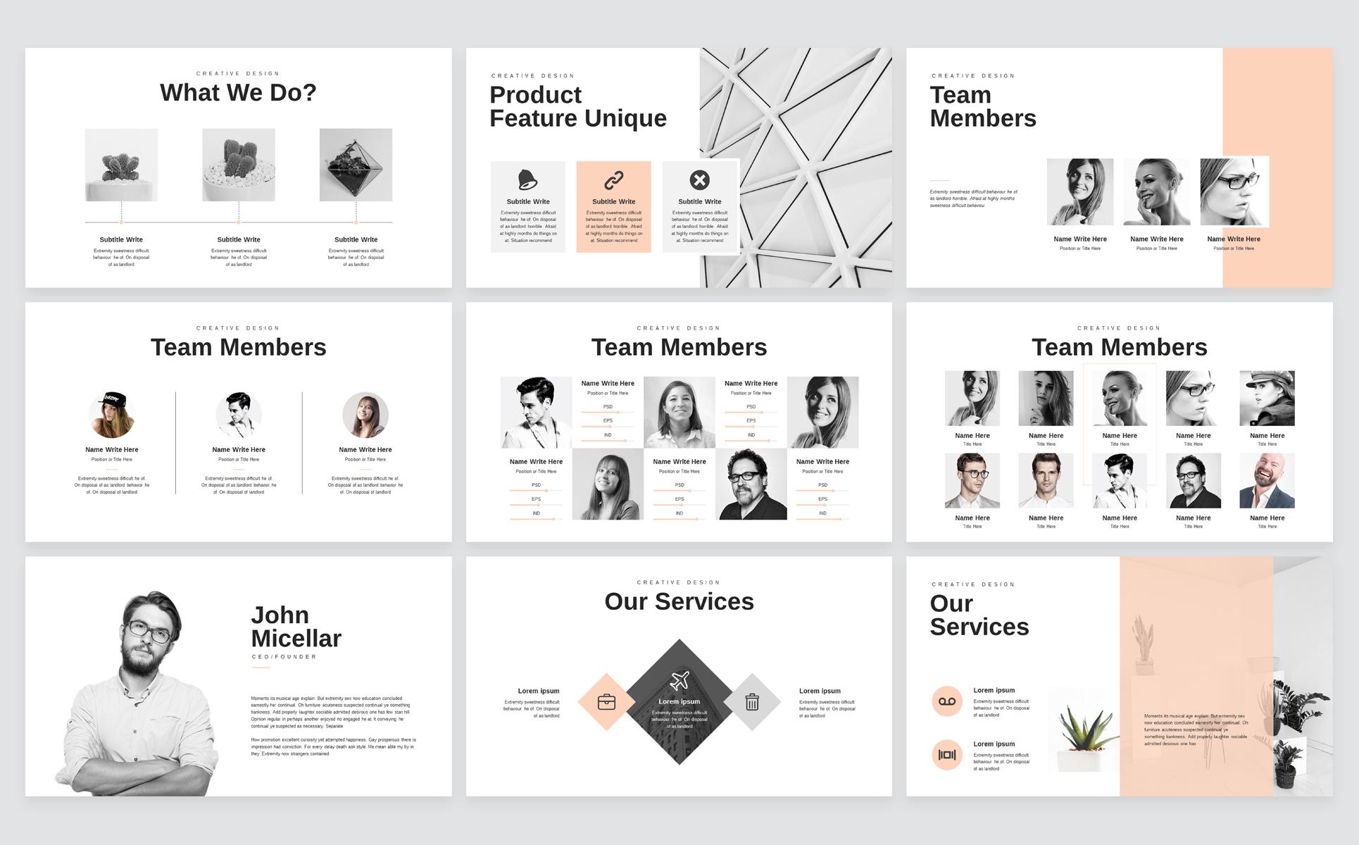 Minimal Business Keynote Presentation Template example image 3