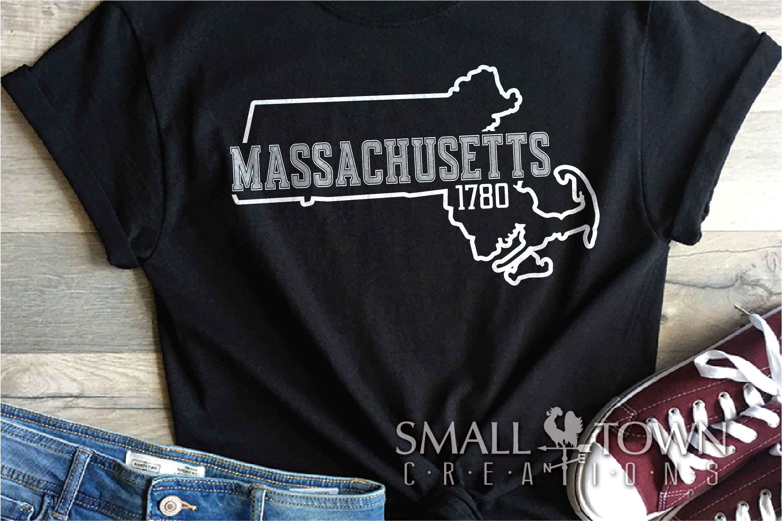 Massachusetts, Spirit of America, Logo, PRINT, CUT & DESIGN example image 8
