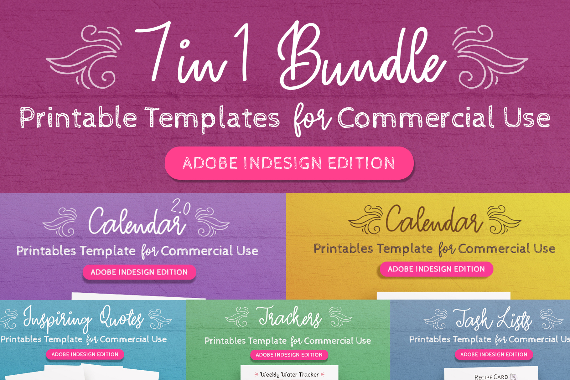 7-in-1 Bundle InDesign Templates for Commercial Use example image 1