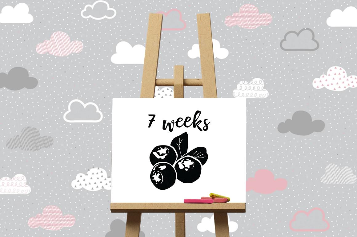 Pregnancy Week by Week SVG Cut Files - Blueberry example image 3