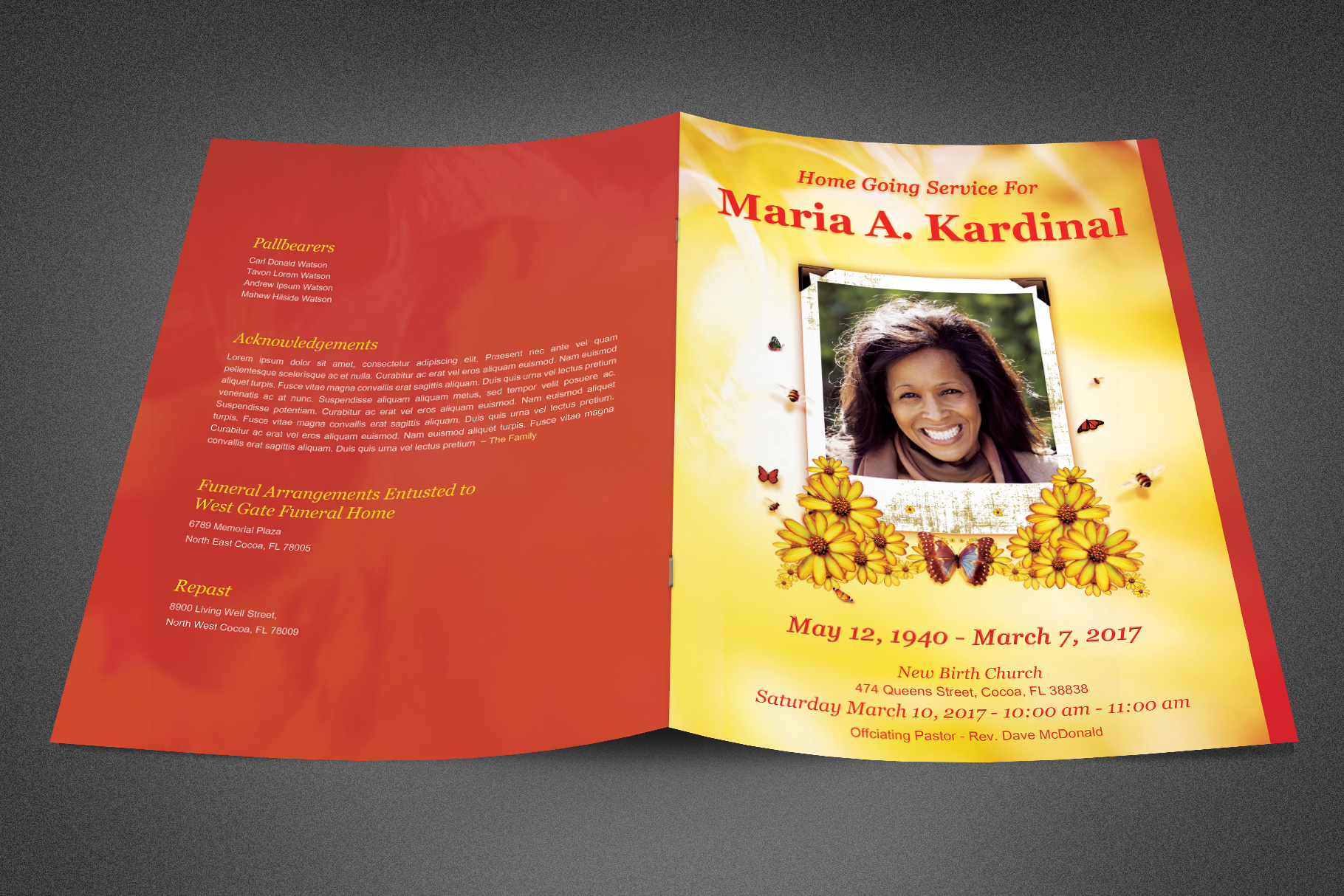 Light of Life Funeral Program example image 2