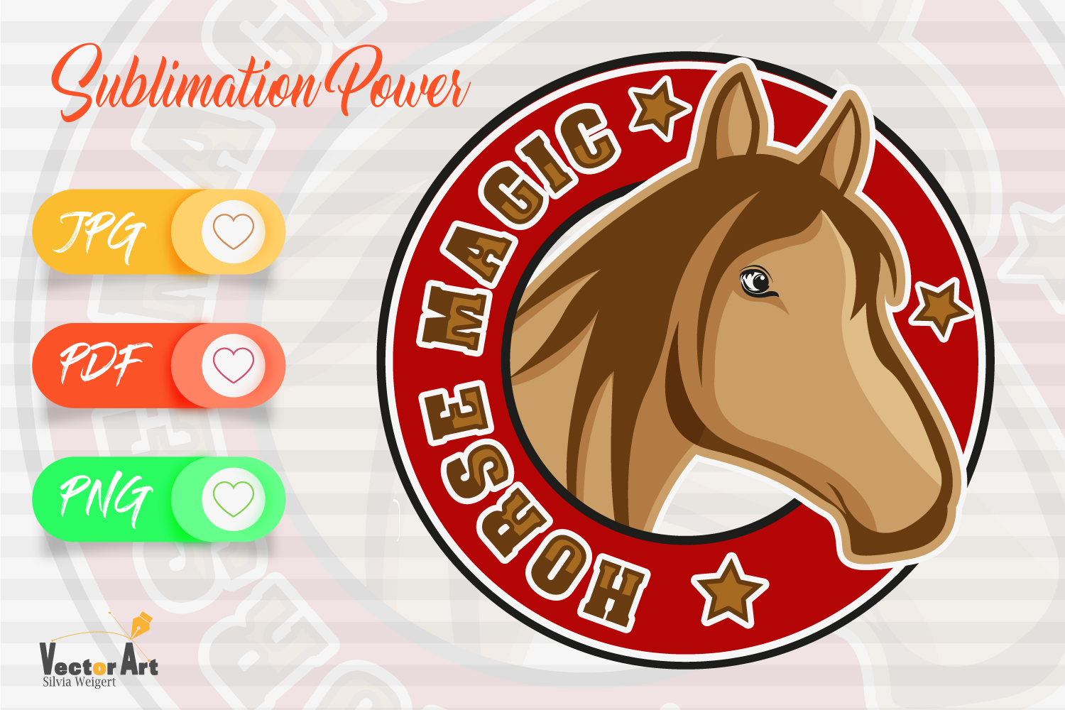 Horse Magic - Sublimation File for Crafter example image 1