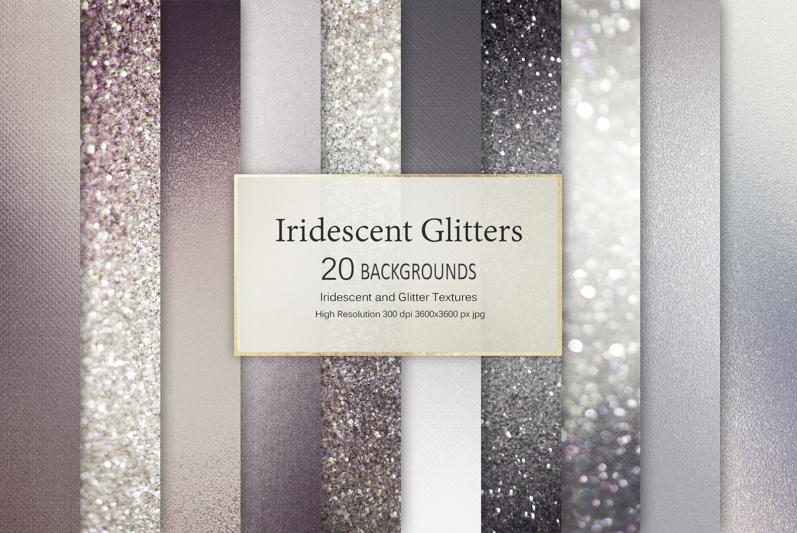 Iridescent and Glitter Foil Textures example image 1