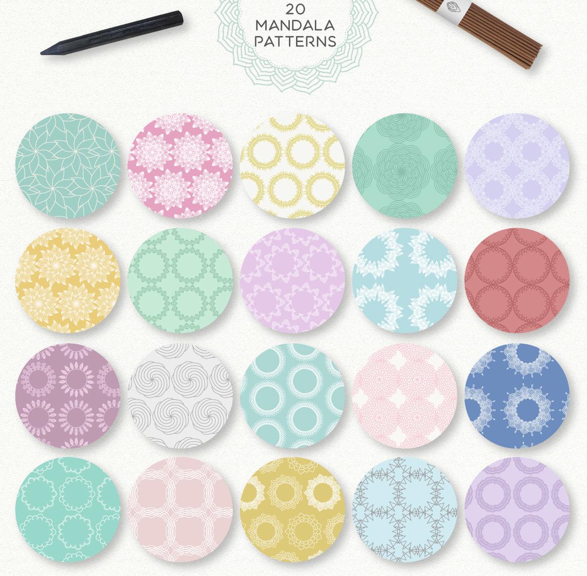 Mandala Collection [630 Elements] example image 7