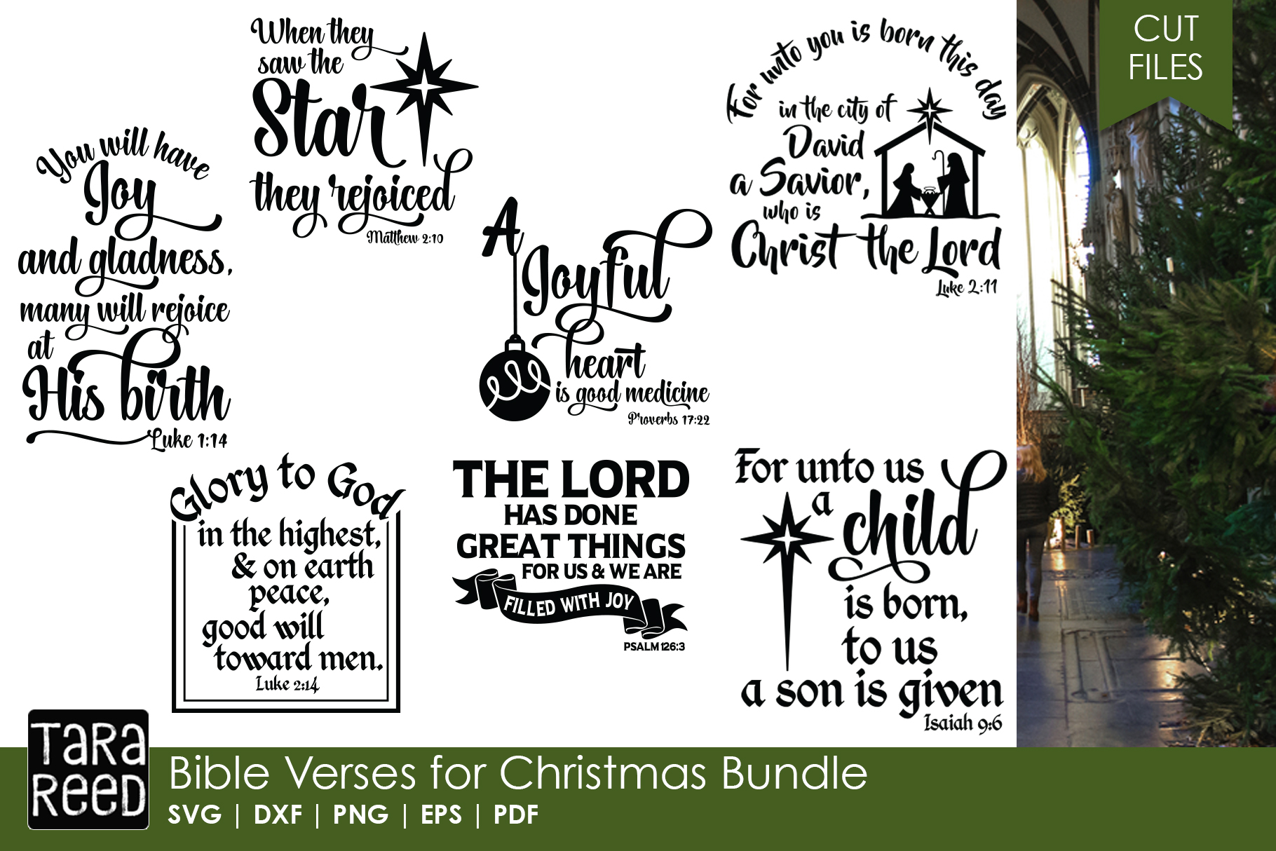 Christian Christmas MEGA Bundle - SVG Files for Crafters example image 7