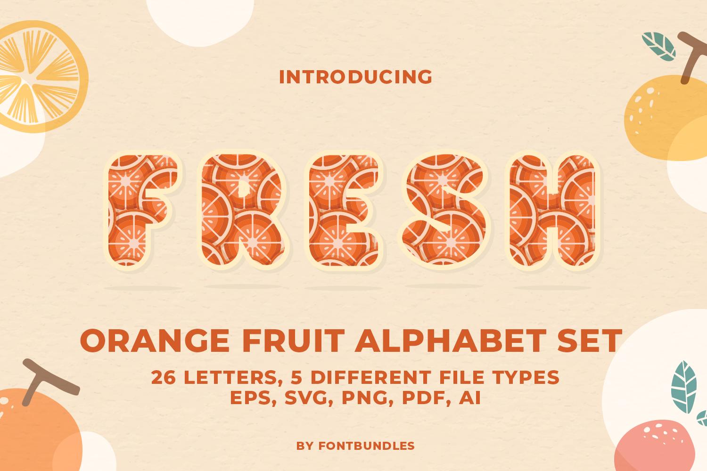 Orange Alphabet Set example image 1