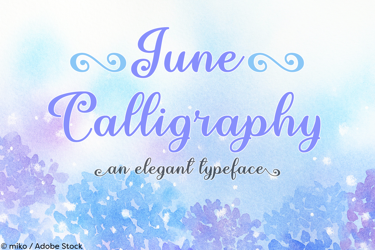 June Calligraphy example image 1