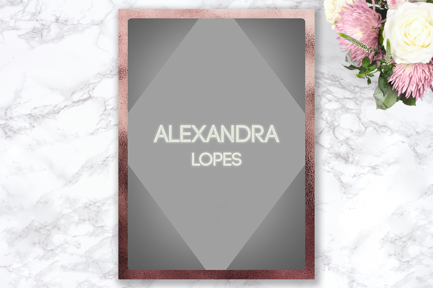 Senior Announcement Card - Rose gold - Photoshop Template example image 4