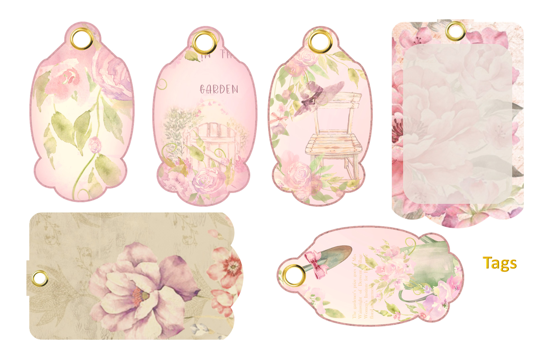 Printable Fairy Journaling Kit, Free Ephemera and PNGs example image 7