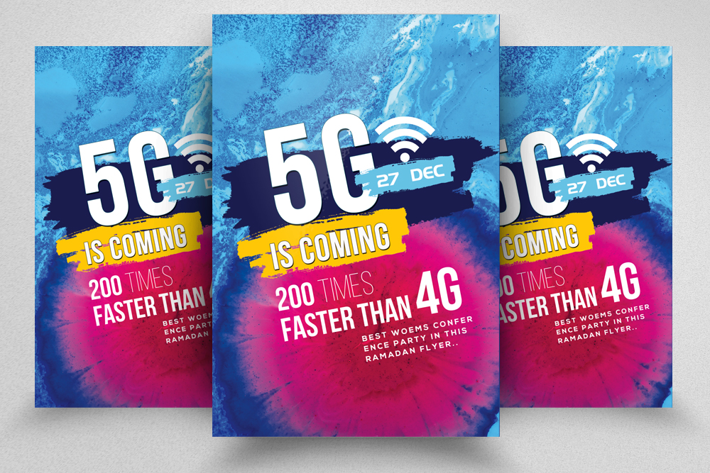 5G Internet Flyer Template example image 1