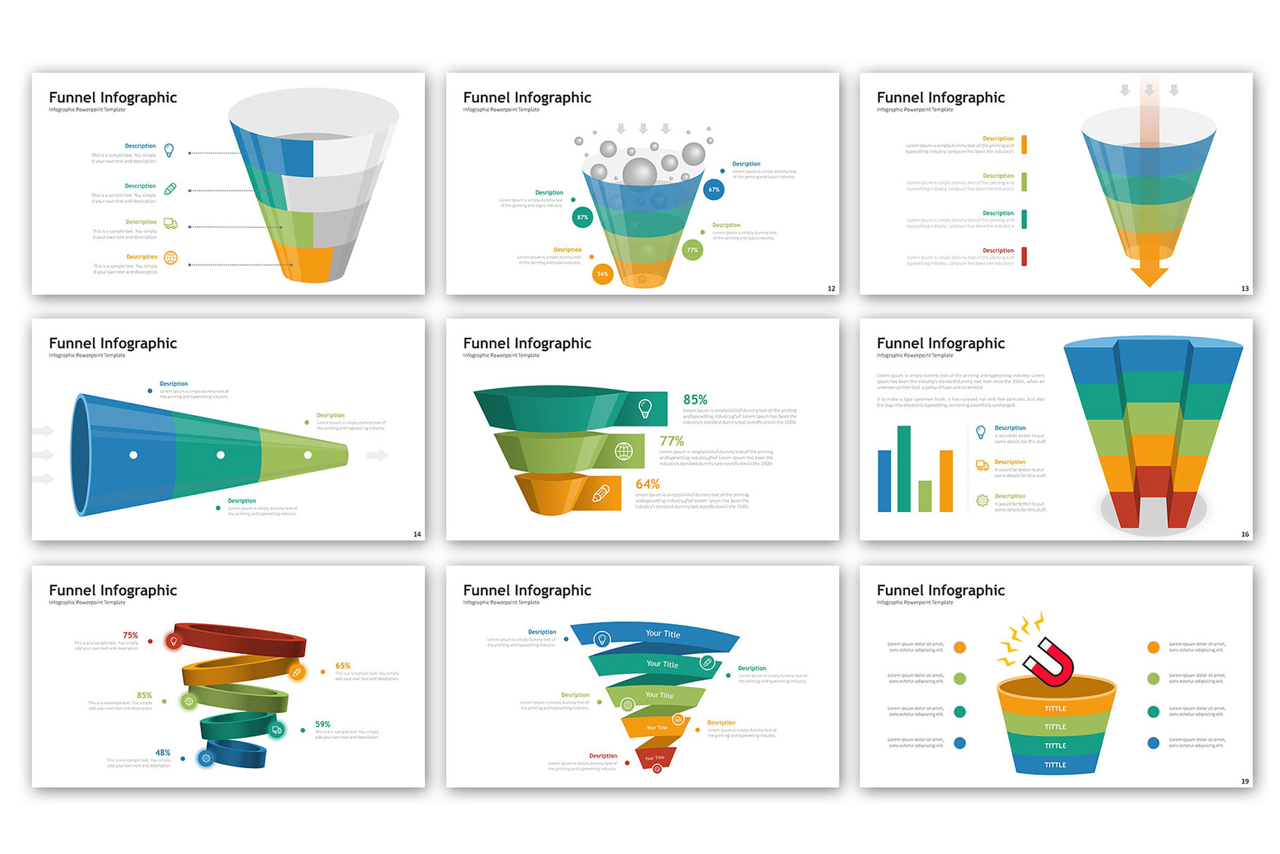 Funnel Presentation - Infographic Template example image 3