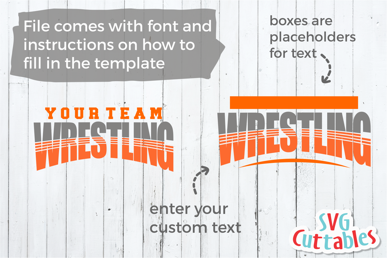 Wrestling Template 001| SVG Cut File example image 2