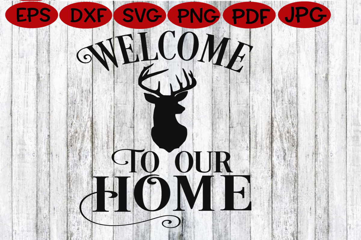 Home - Welcome to our Home SVG - Home Sign example image 2
