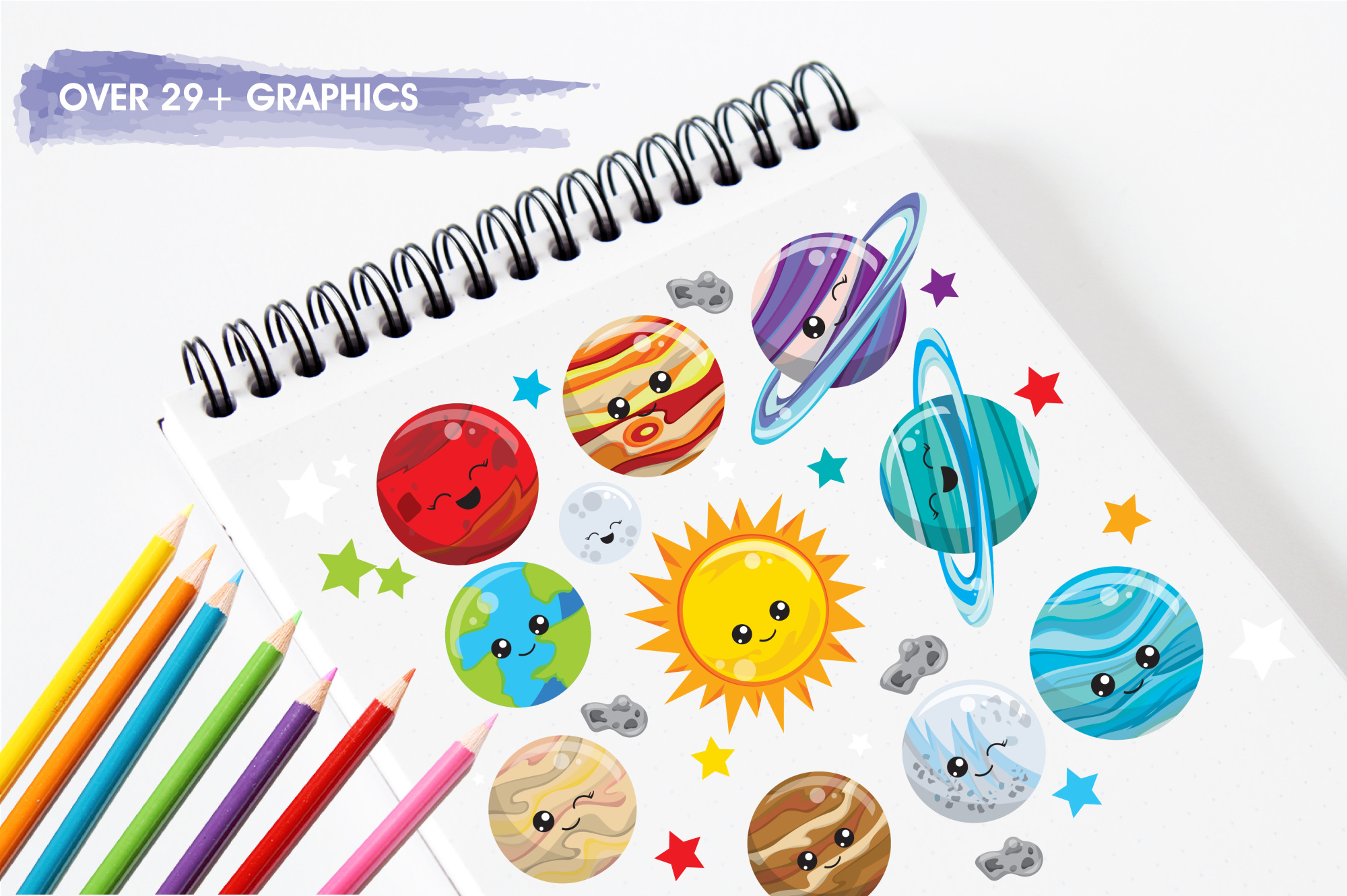 Solar System  graphics and illustrations example image 3