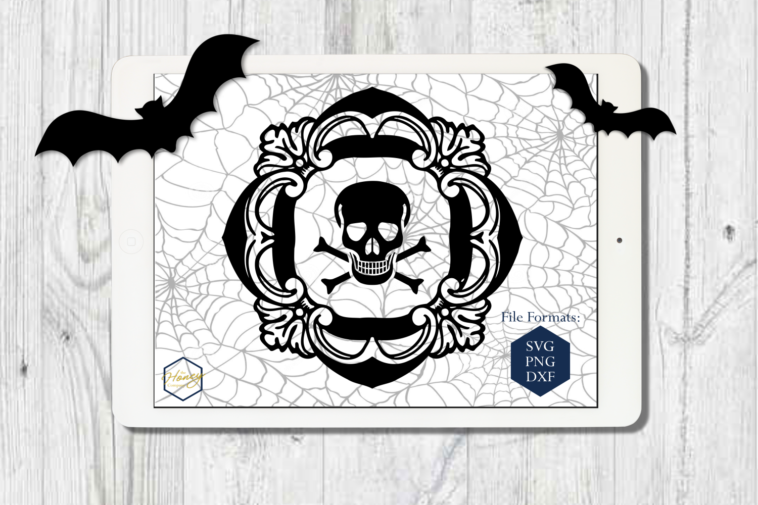 Halloween Set SVG PNG DXF Spider Bats Skull Potion Witch example image 5