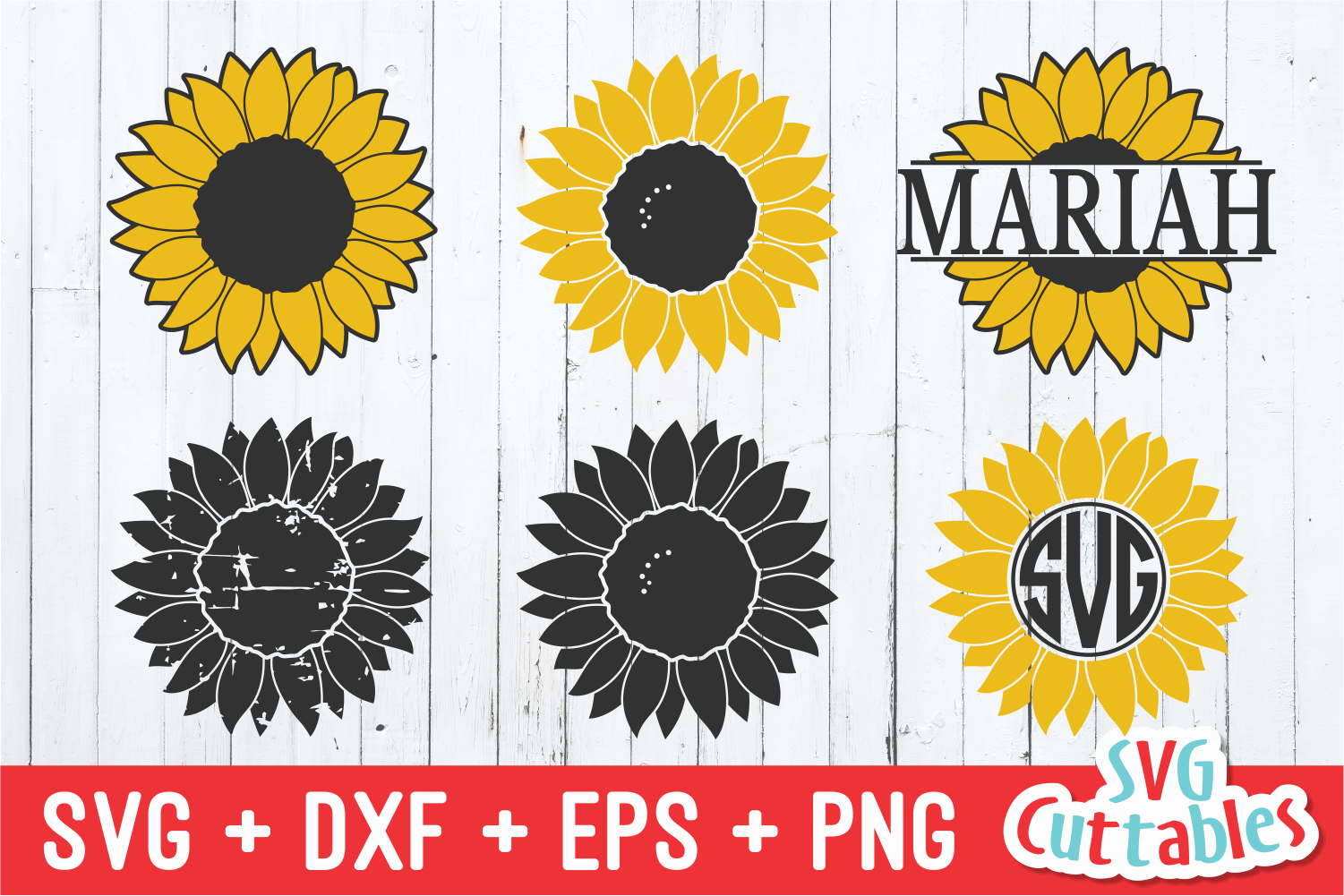 Sunflower Collection | Spring | SVG Cut File example image 1
