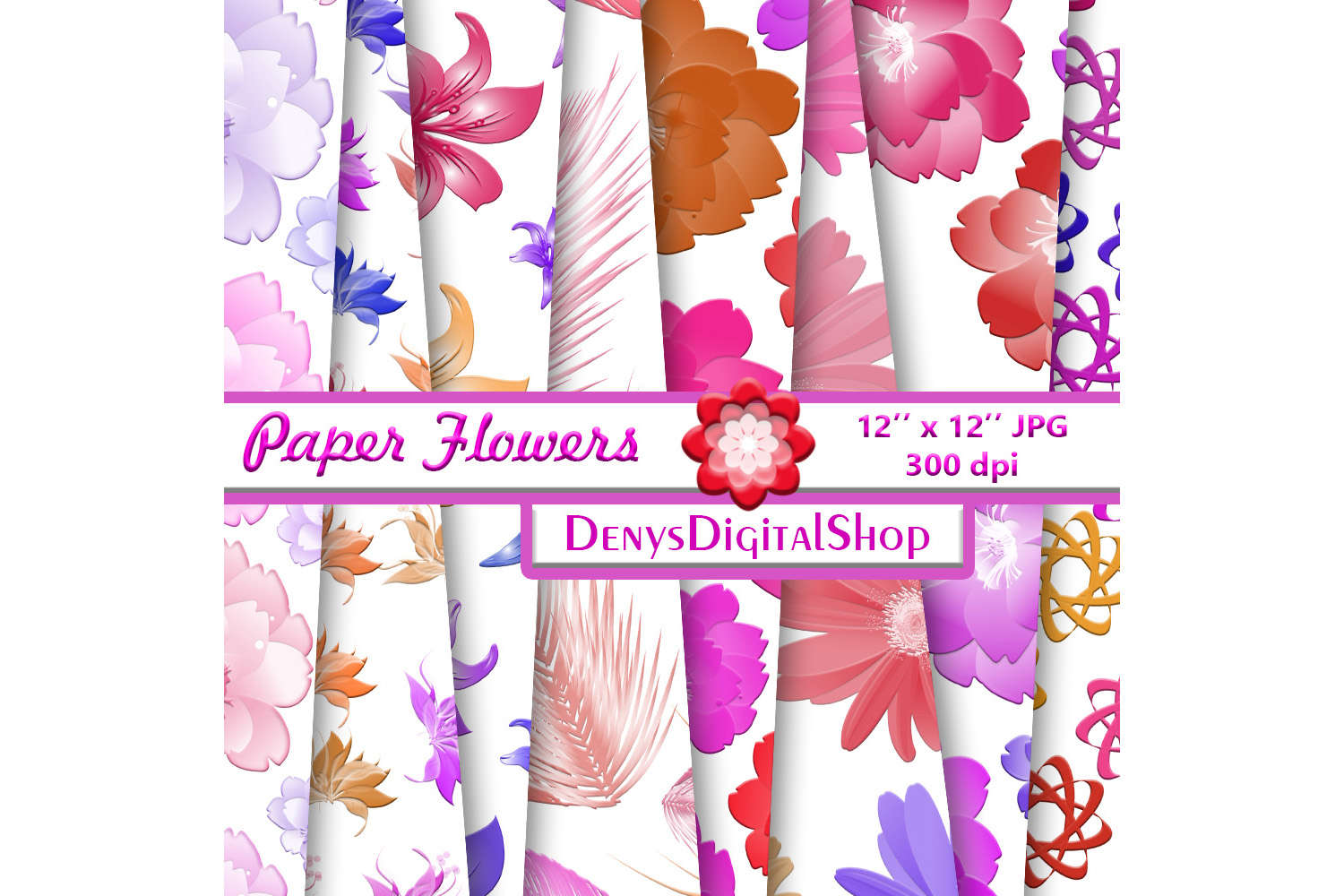 Flowers Patterned, Floral Pattern, Flowers Background example image 2