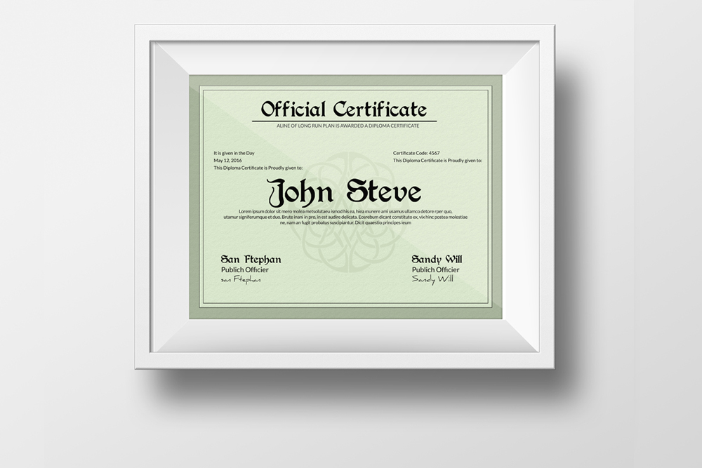Diploma Certificate Template example image 3