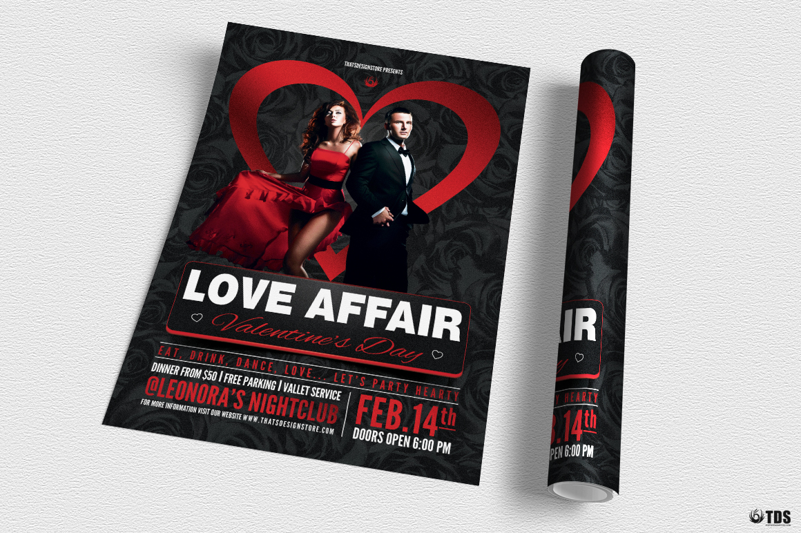 Valentines Day Flyer Template V1 example image 3