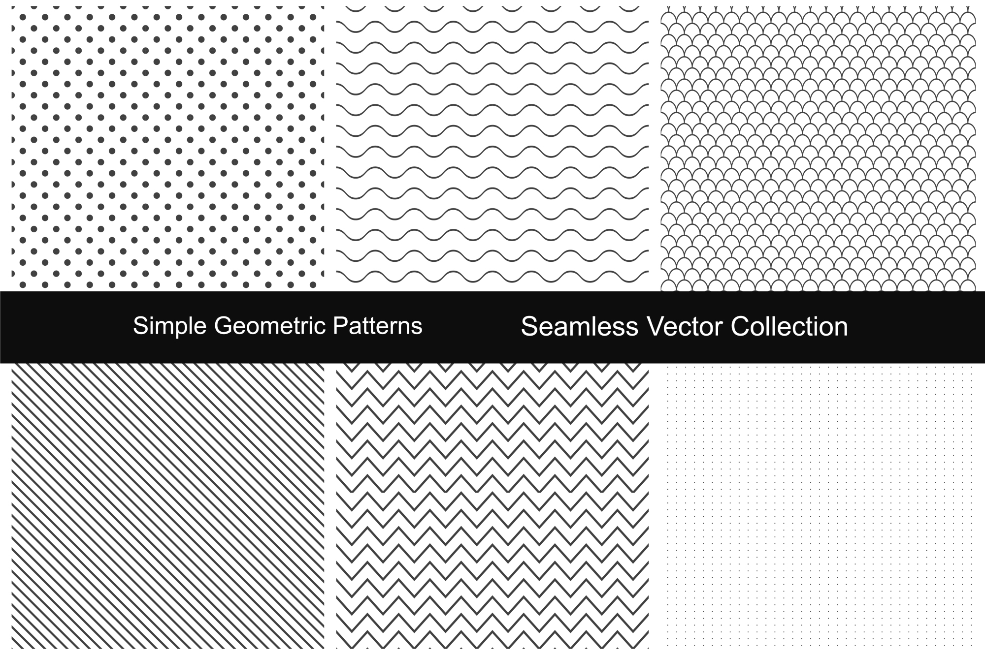 Seamless geometric patterns. example image 1