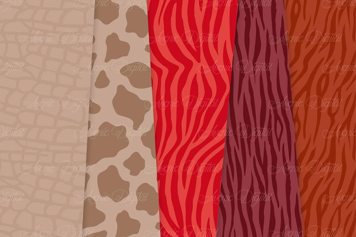 Fall Animal Print Vector Patterns -  Autumn Safari Seamless Digital Papers example image 4