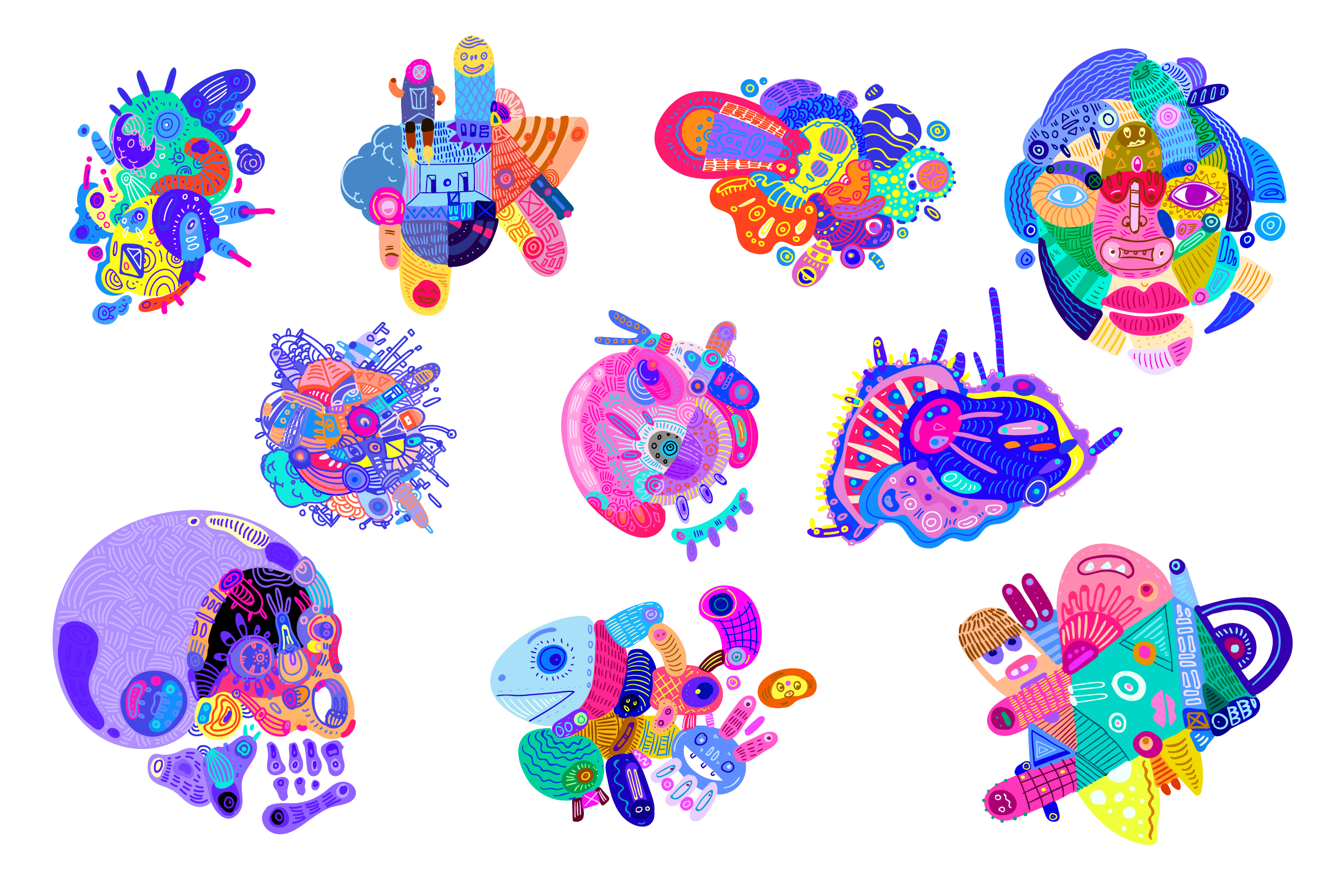 10 Abstract Doodle Illustrations example image 7