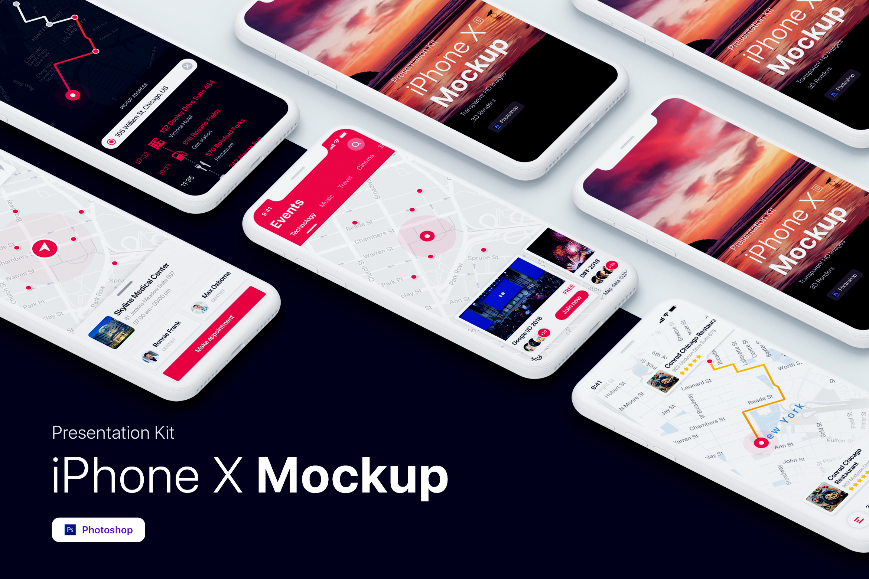 Presentation Kit - iPhone showcase Mockup_v1 example image 5