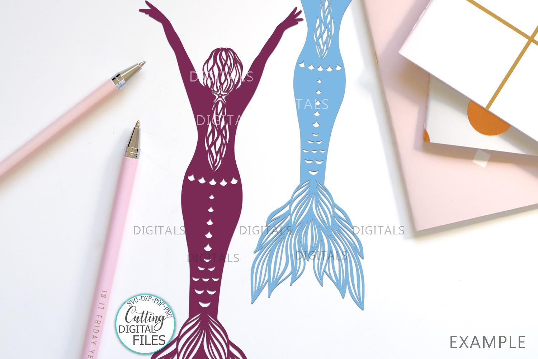 Mermaids Silhouette Bundle svg dxf machine cut templates example image 9