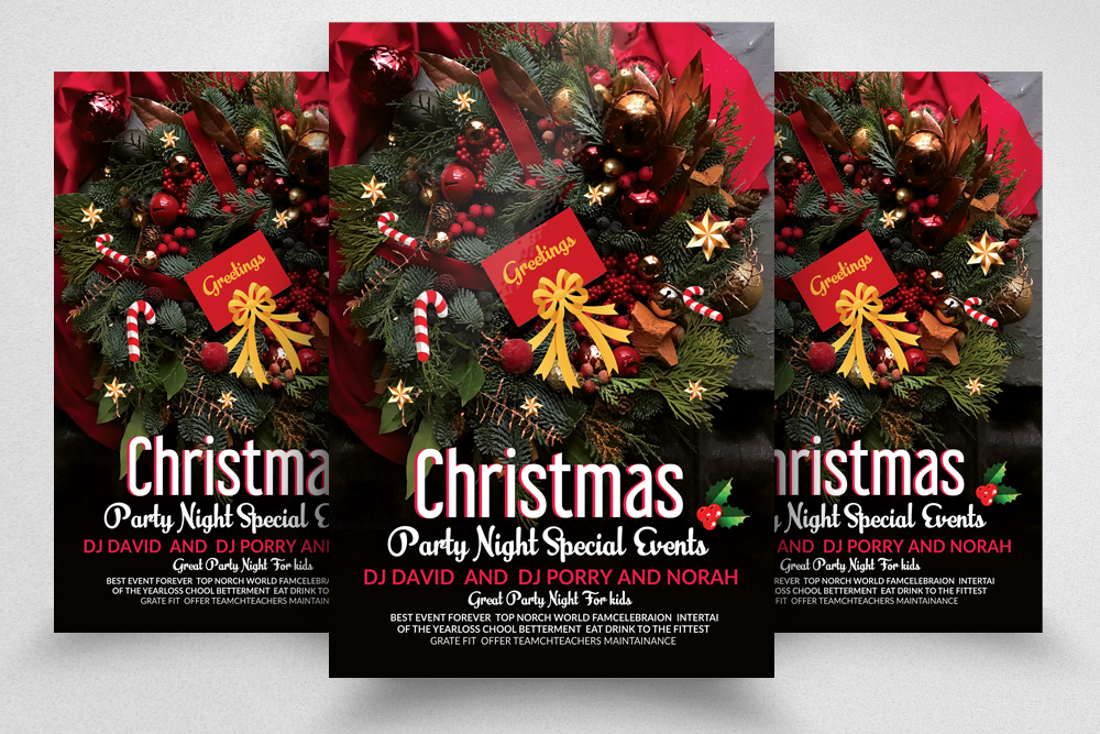 Christmas Party Special Night Flyer example image 1