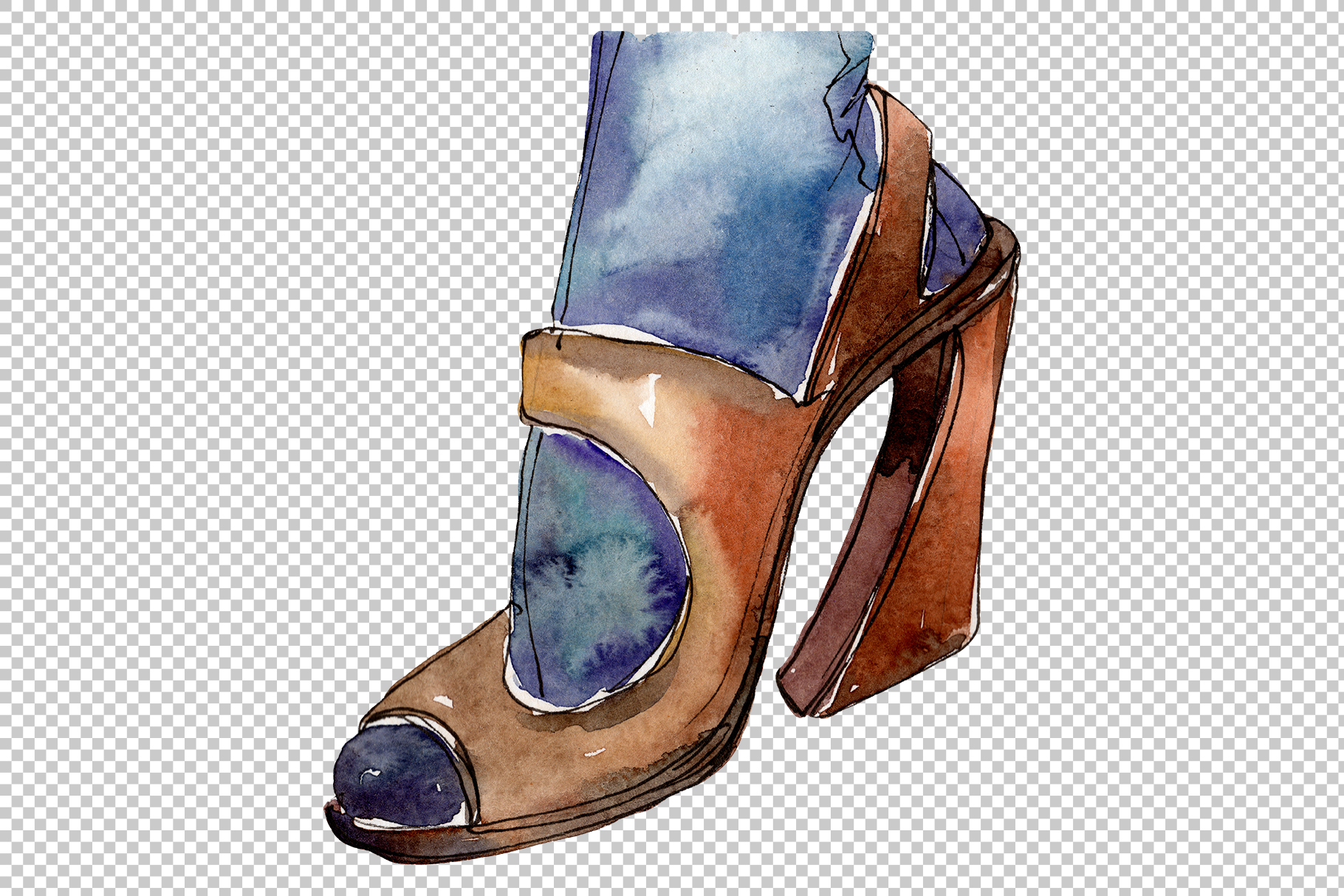 Fashion and style watercolor png example image 6