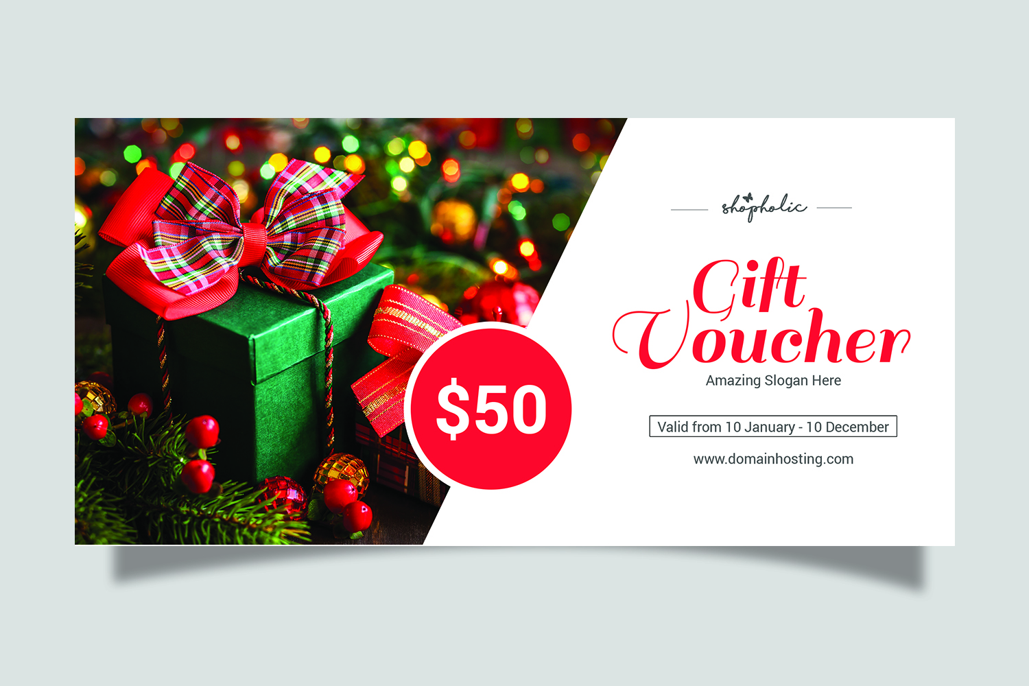Christmas Gift Voucher example image 2