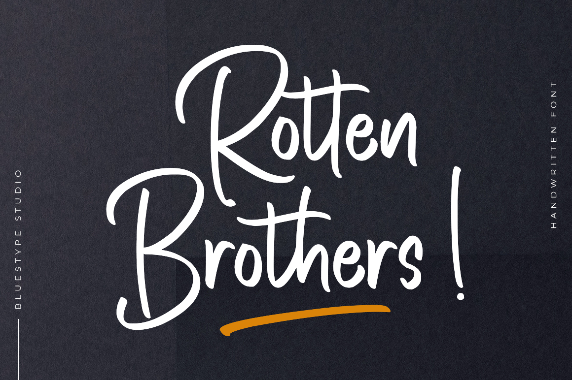 Rotten Brothers - Handwritten Font example image 1
