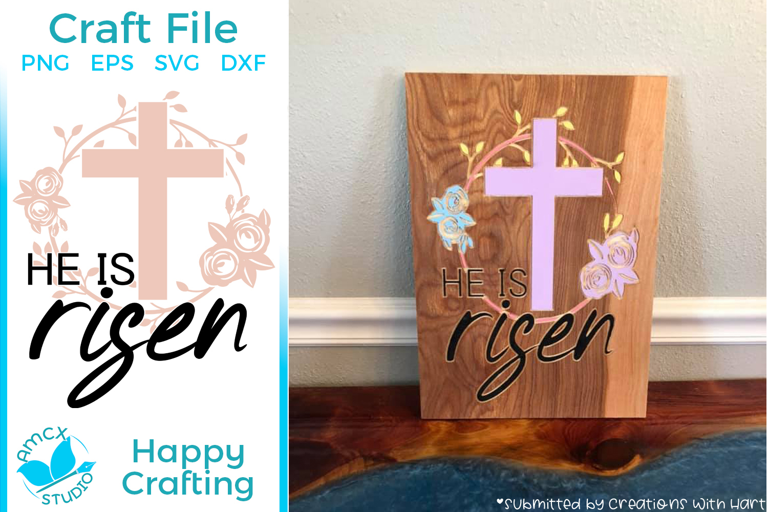 He Is Risen - Christian Cut Craft Files example image 1