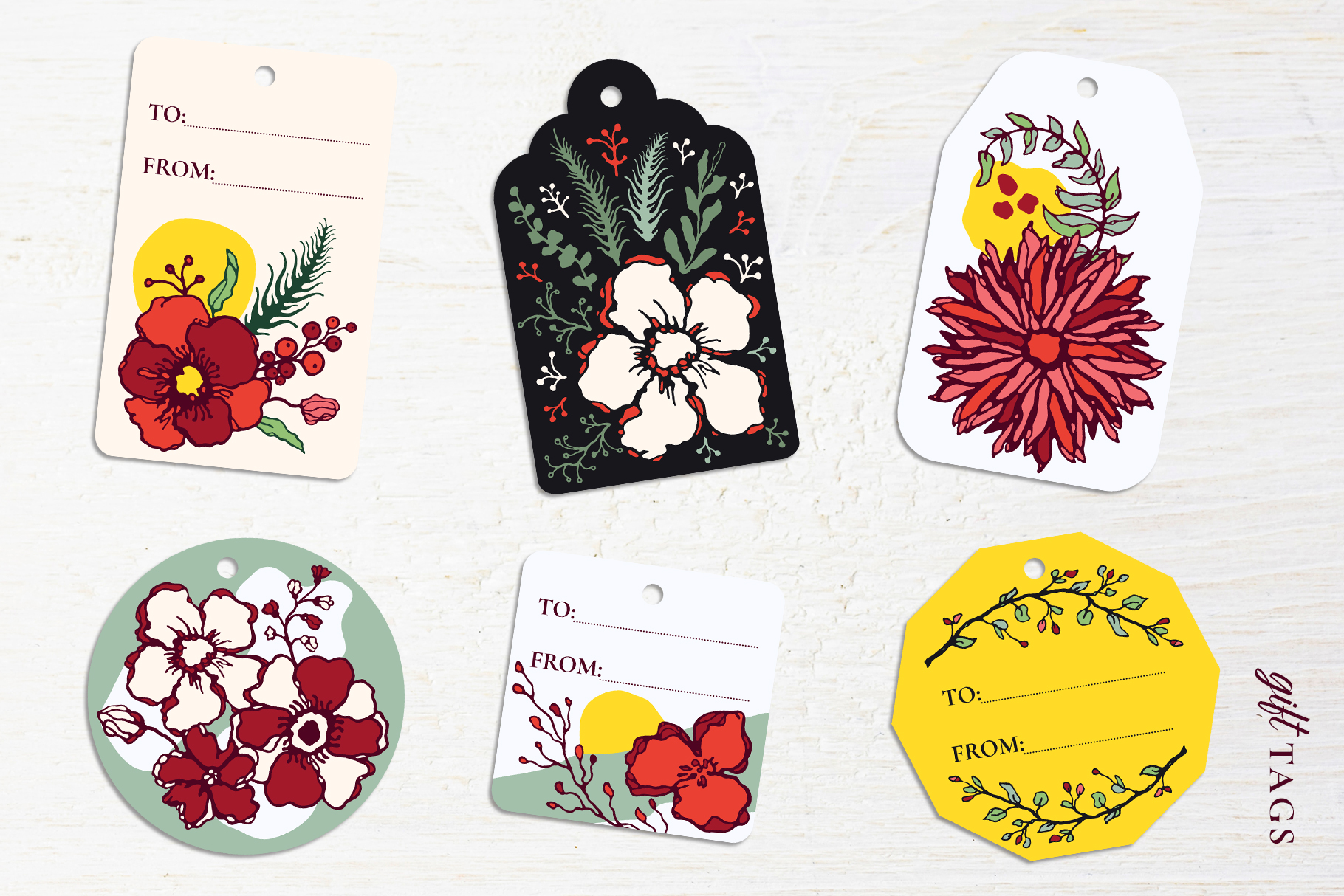 Winter Floral Patterns & Illustrations example image 21