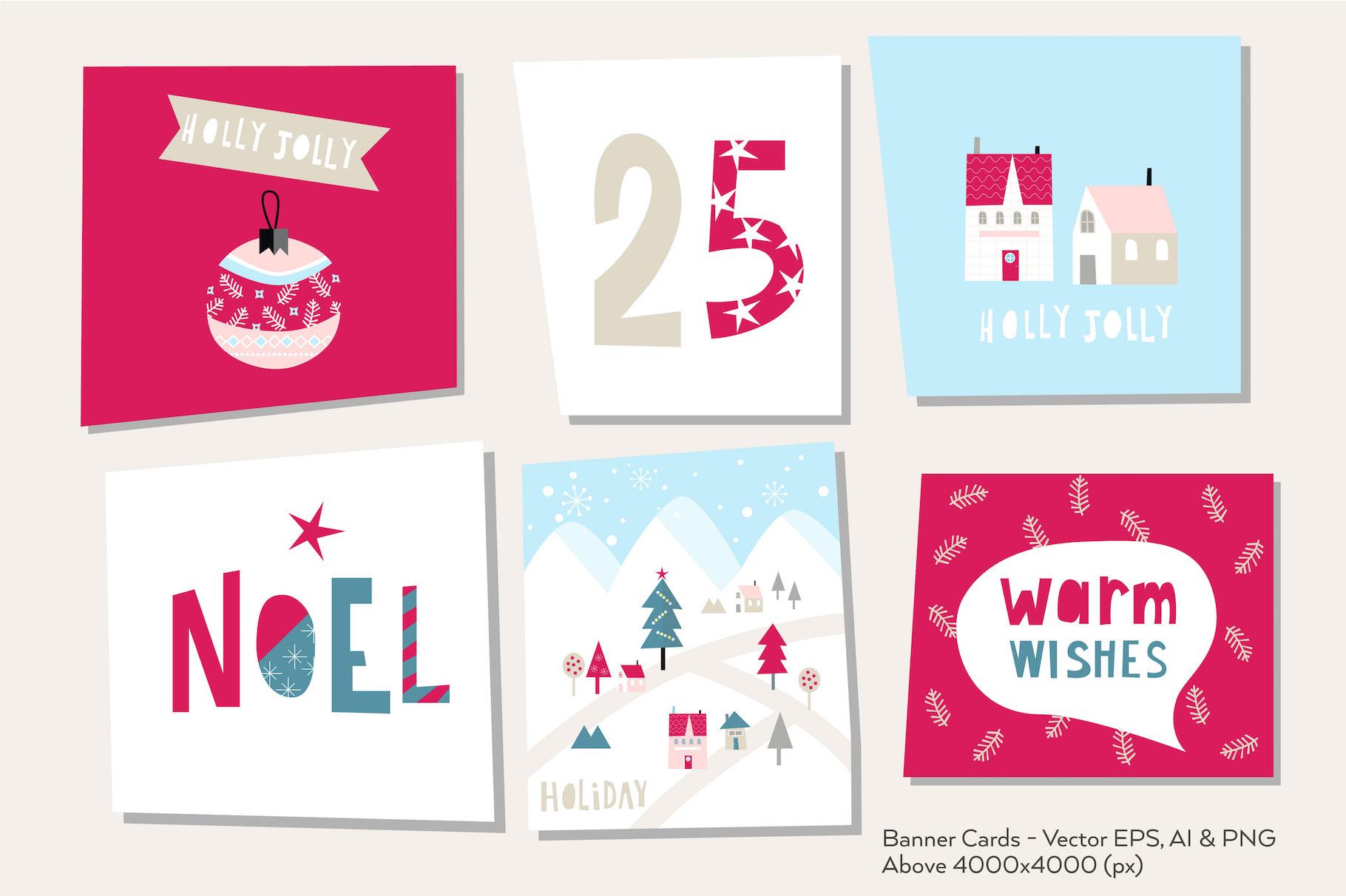 Happy Flat Holiday! Design Kit example image 4